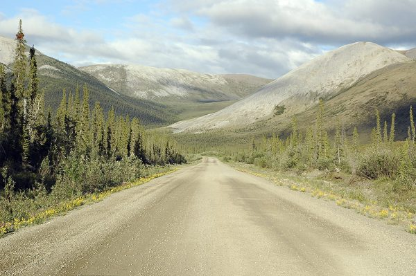 mountain dirt road dempster highway