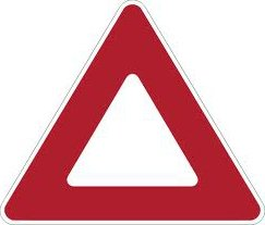 upside down yield sign