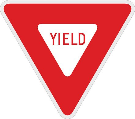yield sign amp upside down yield sign