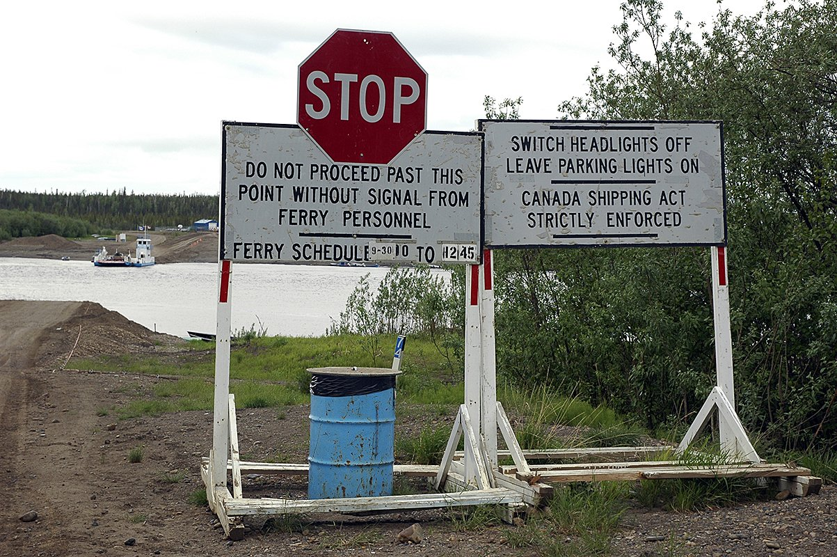 stop sign dempster highway