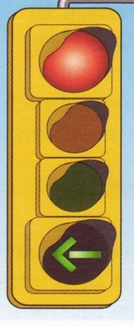 red lights with green arrows