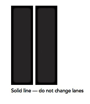 solid line do not change lanes