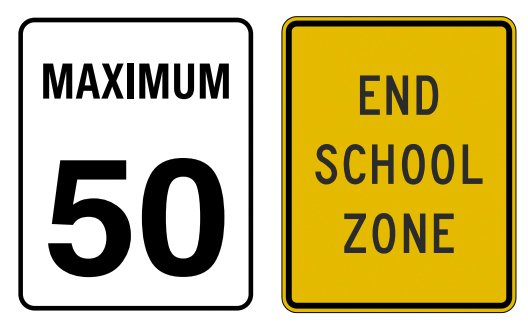 End of school zone