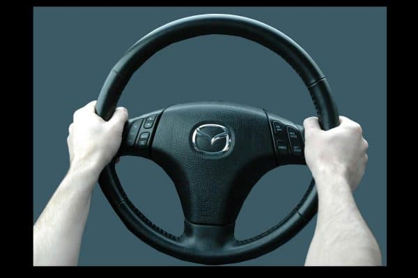 steering wheel with arms