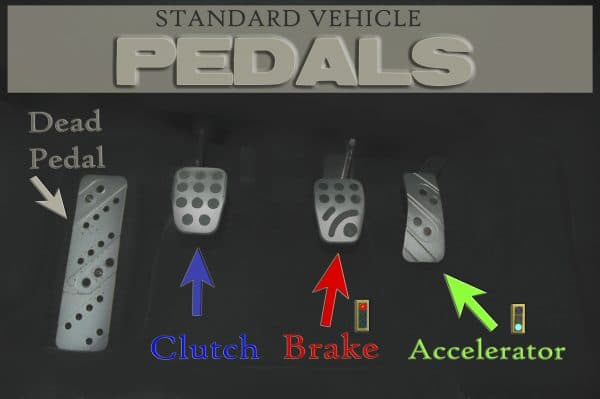 standard vehicle pedals