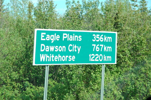 green highway signs