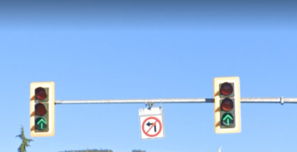 green arrows intersection