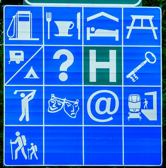 blue road signs