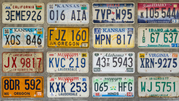 record license plate number