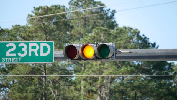 What does a flashing yellow light mean
