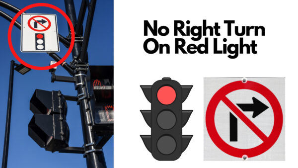 no right turn red light