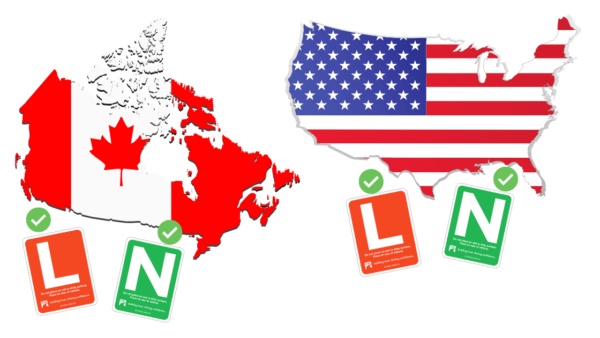 L and N driver USA and Canada