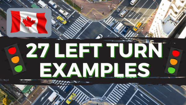 left turns at intersection