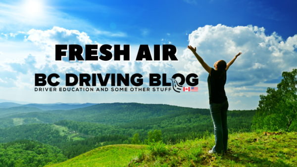 get fresh air to stay awake while driving