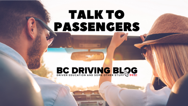 talk to your passenger to stay alert when driving a vehicle