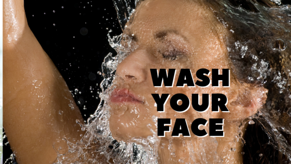 wash your face to wake up