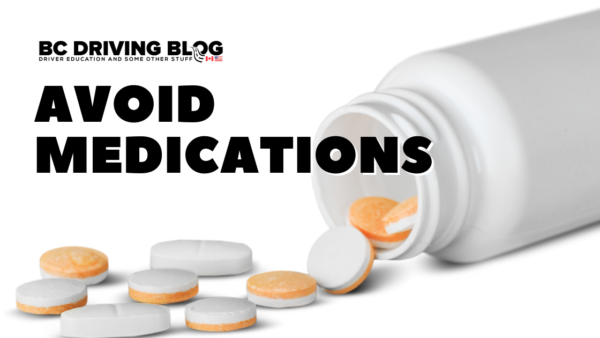 avoid medications while driving