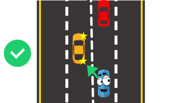 how to lane change in heavy traffic