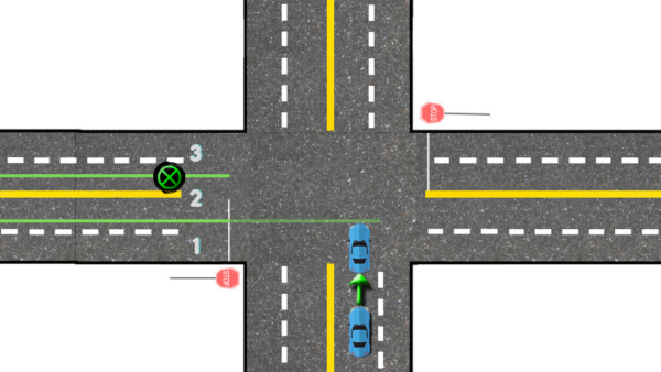 when you're turning left