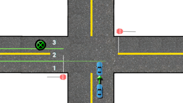 left turn intersection