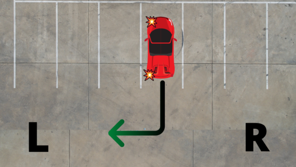 backing to left signal left