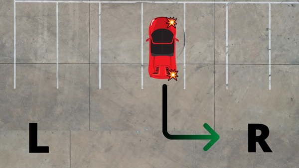 turn signal when backing right