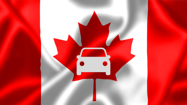 use a canadian license plate for ICBC road test