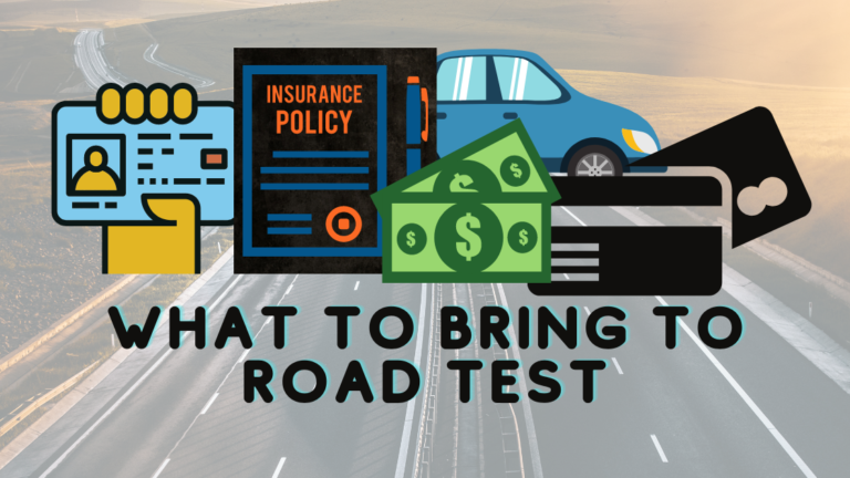 icbc what to bring to road test